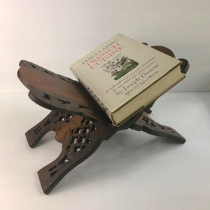 Hand Carved Wood Book Stand